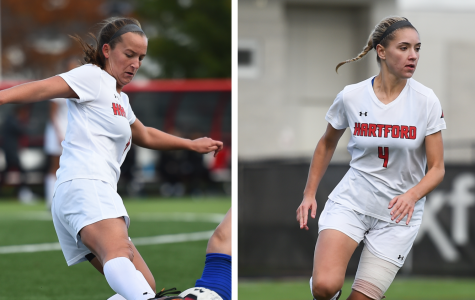 Sierra Stone and Anna Cronin earned each a Second-Team All Atlantic Region
